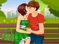 Park Bench Kissing