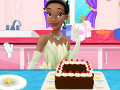 Tiana Cooking Chocolate Cake