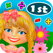 Math Girl Flowers 1st Grade